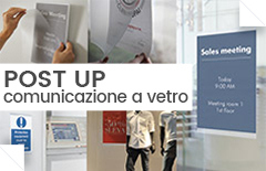 post up comunicazione a vetro