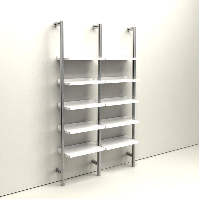Libreria Metallo E Vetro.Inuno Libreria H 200 X 240 M 115 115 Cm