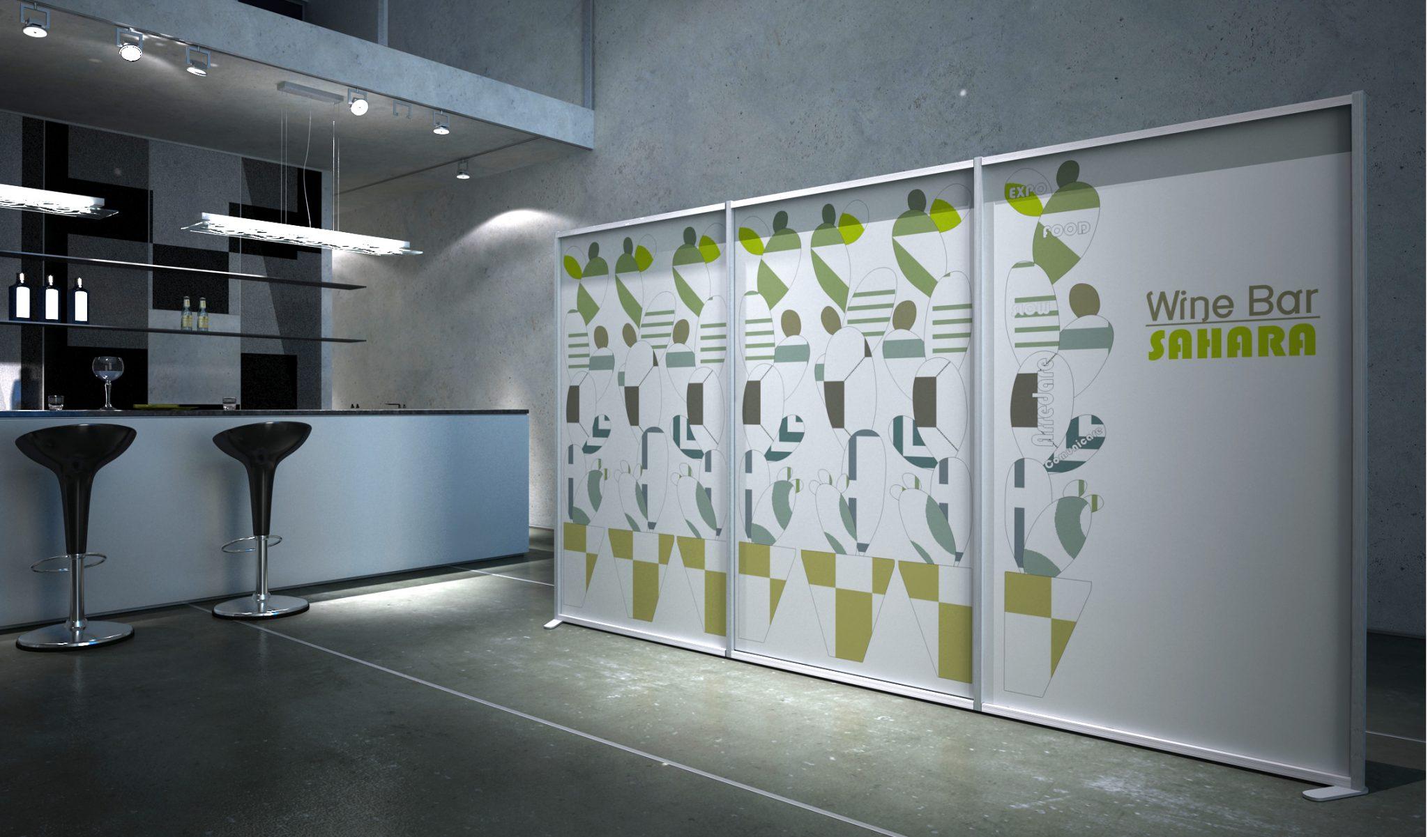 Pannelli divisori modulari, separè, pareti, schermi autoportanti - Studio T