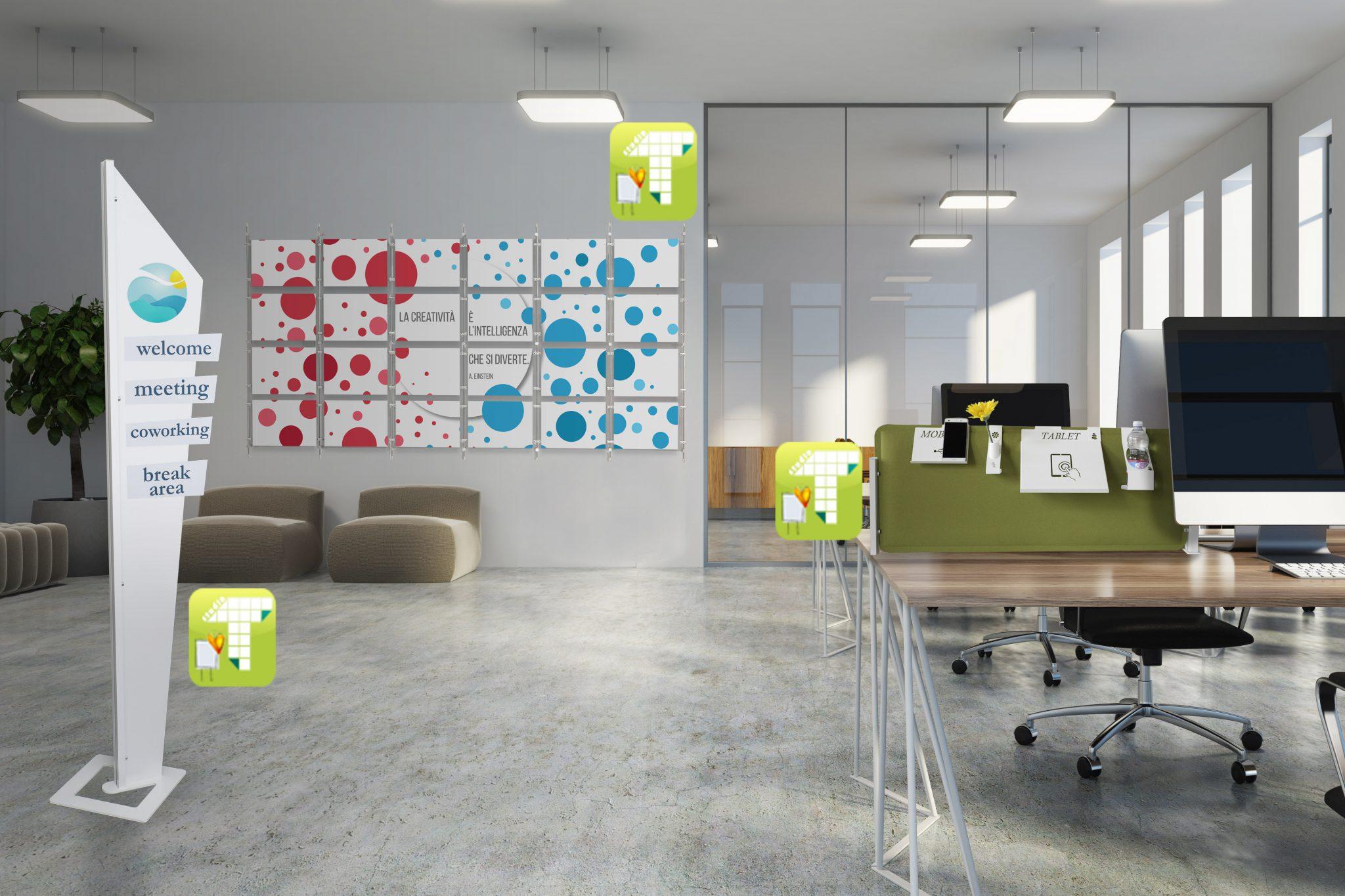 Soluzioni di segnaletica e fonoassorbenza per l 39 ufficio for Soluzioni per ufficio