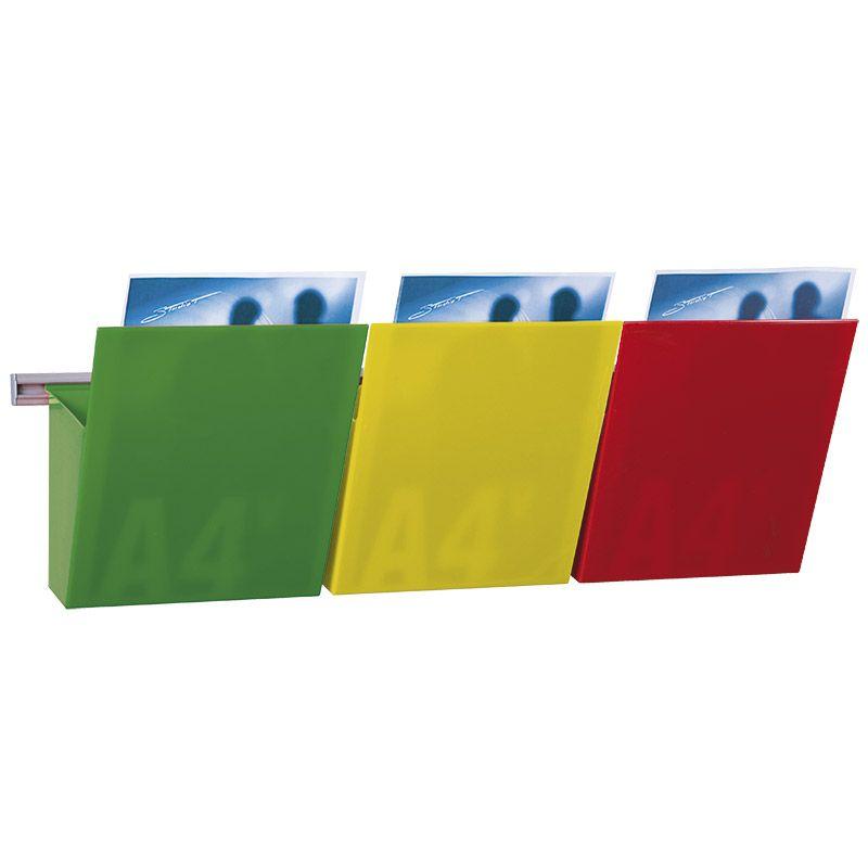 Colore Parete Gialla : Porta documenti a parete kit vision decor kb studio t