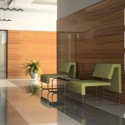 Interior of the corridor in office 3D rendering2