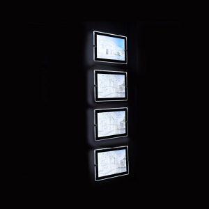espositori luminosi per agenzie immobiliari