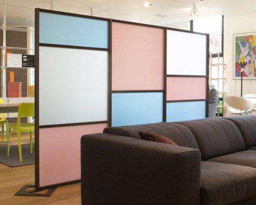 pannelli divisori colorati