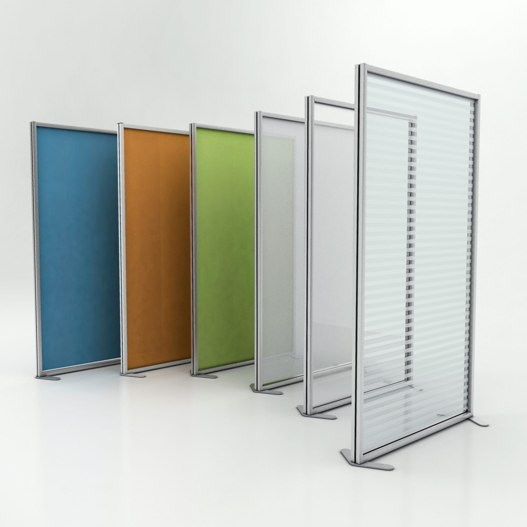 pannelli divisori ufficio inuno semplici e in 6 colori