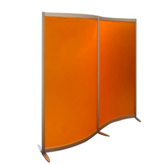 Pannelli divisori ufficio colorati arancione - Studio T