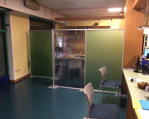 Pannelli divisori su misura per uffici open space for Pannelli divisori ufficio