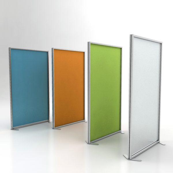 Pannelli divisori ufficio inuno in diversi colori studio t for Divisori da ufficio