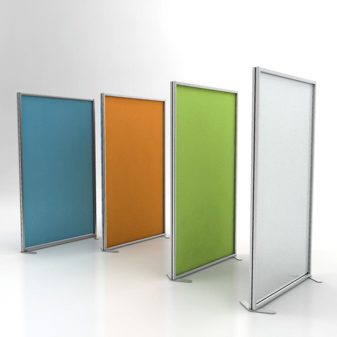 Pannelli divisori ufficio inuno in diversi colori studio t for Divisori mobili per ufficio