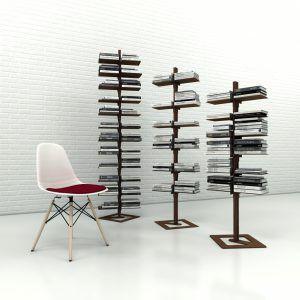 Libreria a colonna bianca Dotto per libri, piantine e oggetti - Studio T