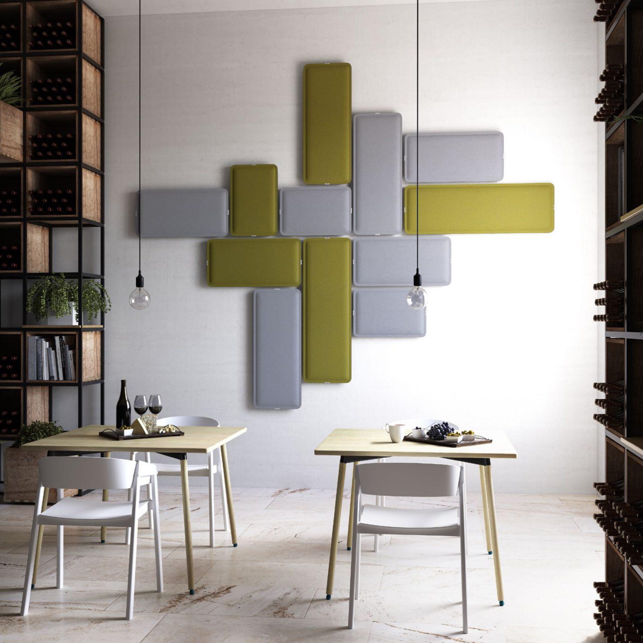 Pannelli fonoassorbenti da parete in diversi colori studio t - Colori da parete ...