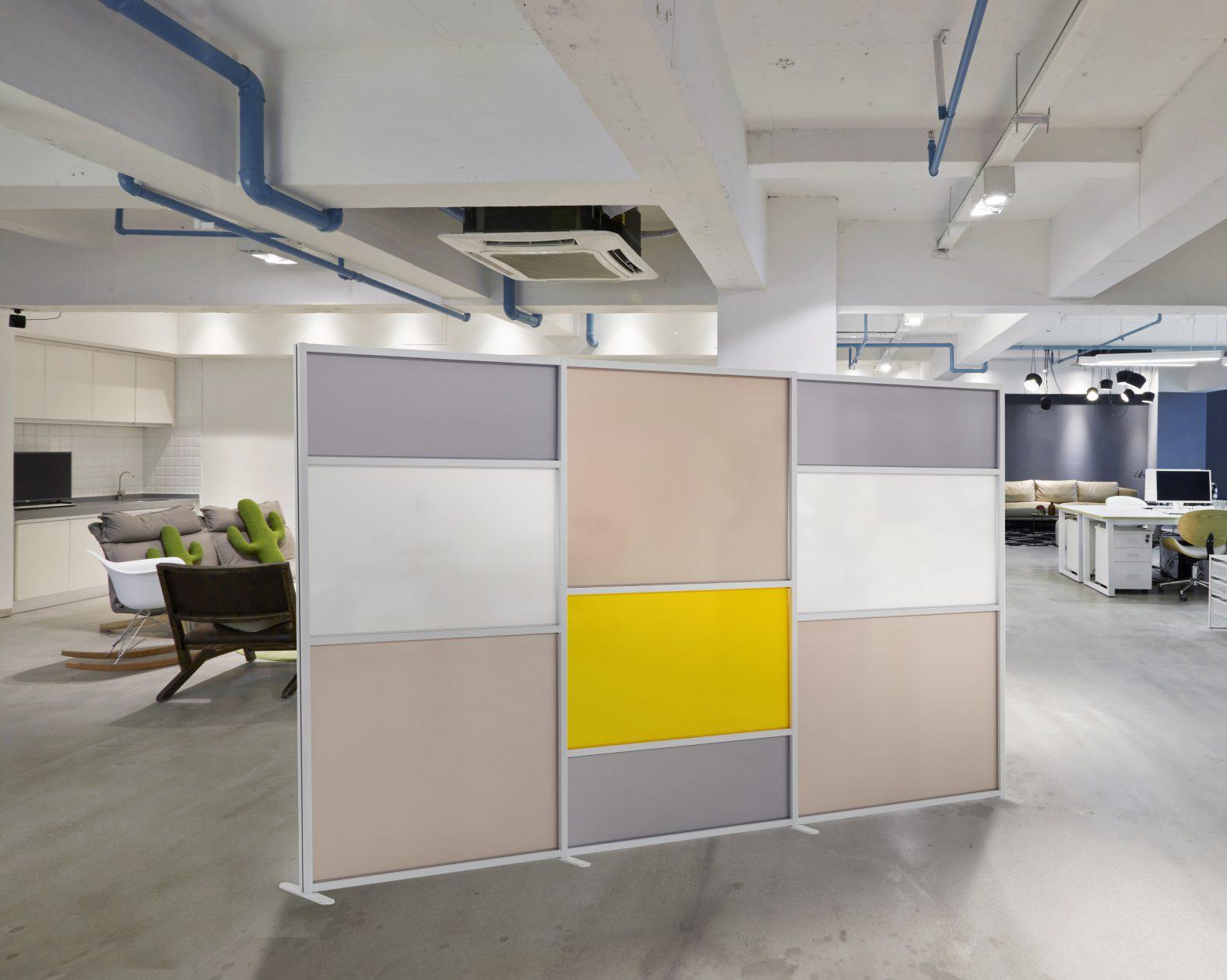 Pannelli Divisori Per Ufficio.Pannello Divisorio Tetrix Giallo