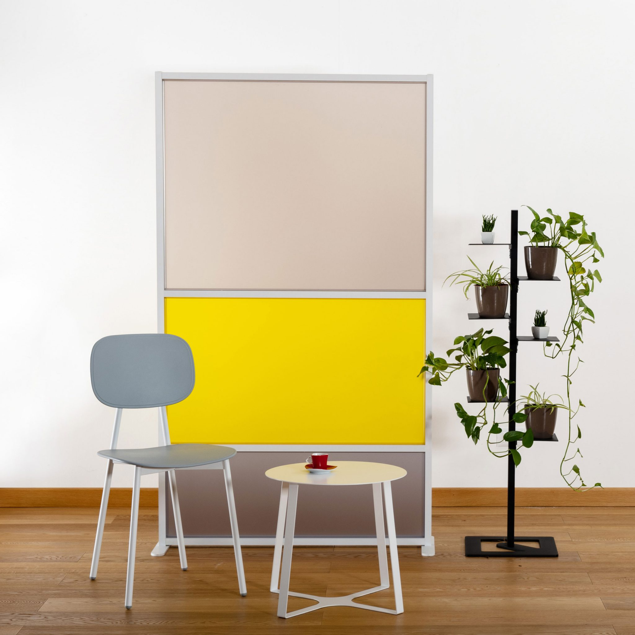 Pareti Divisorie In Vetro Colorato pannello divisorio tetrix giallo
