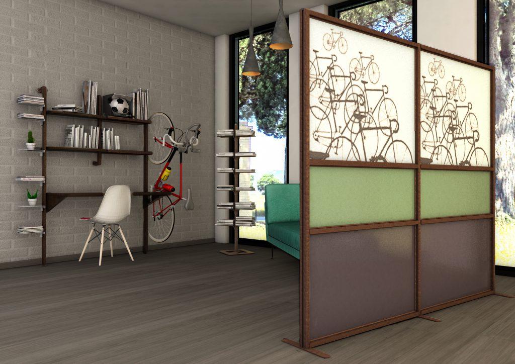 Spazio al colore con tetrix inuno divisori mobili per for Design stanza ufficio
