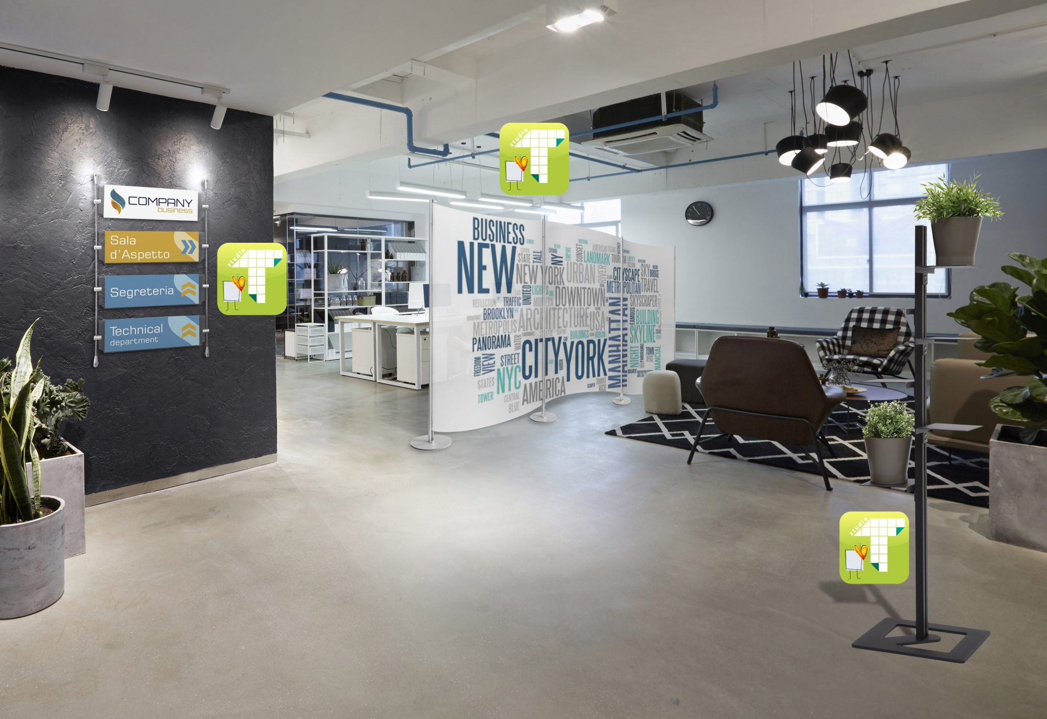 Soluzioni per l 39 arredamento ufficio open space studio t for Arredamento per agenzia immobiliare
