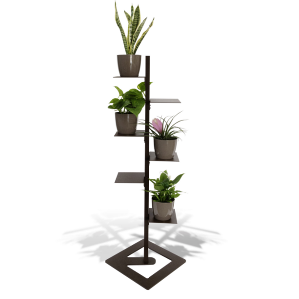 Porta piante da interno mr green con 4 piante purifica - Piante da interno purifica aria ...