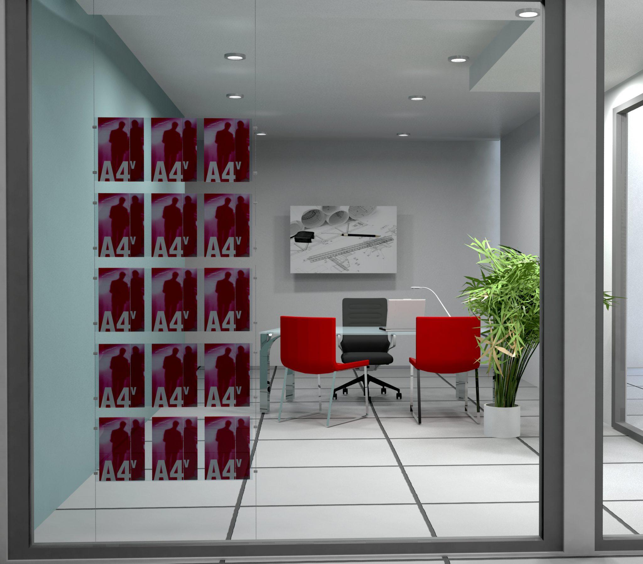 allestimento vetrina agenzia immobiliare