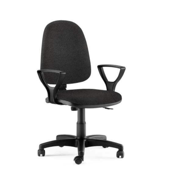 Sedia per ufficio economica con ruote e braccioli - Studio T