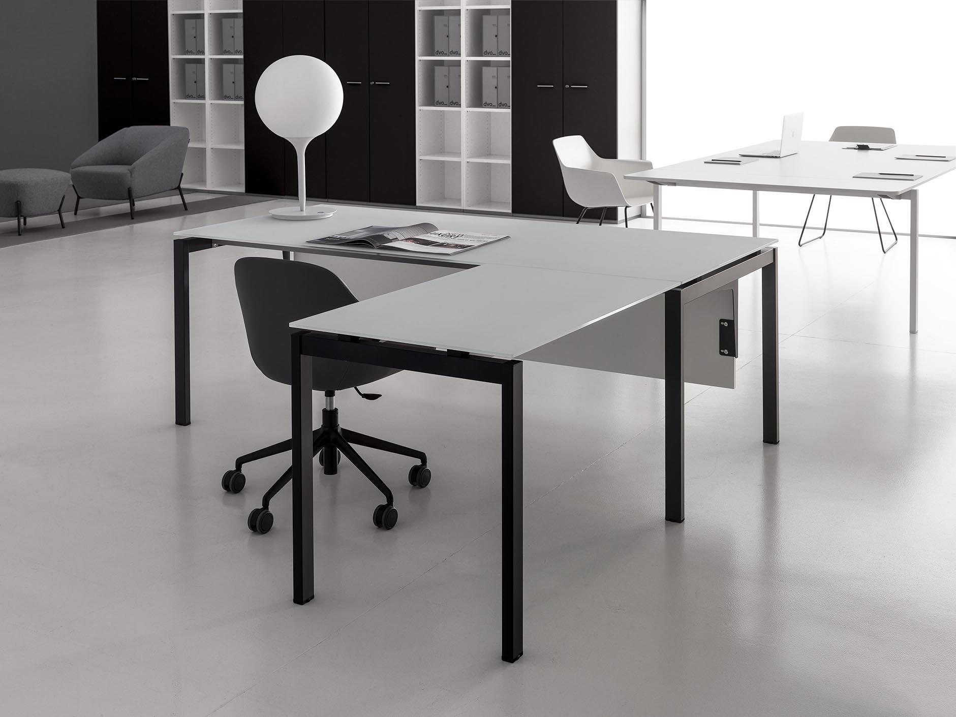 scrivania angolare ufficio 180x80 gap design moderno