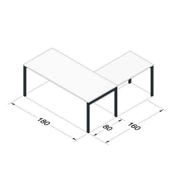 Scrivania Angolare Ufficio 180x80 Gap Design Moderno Studio T