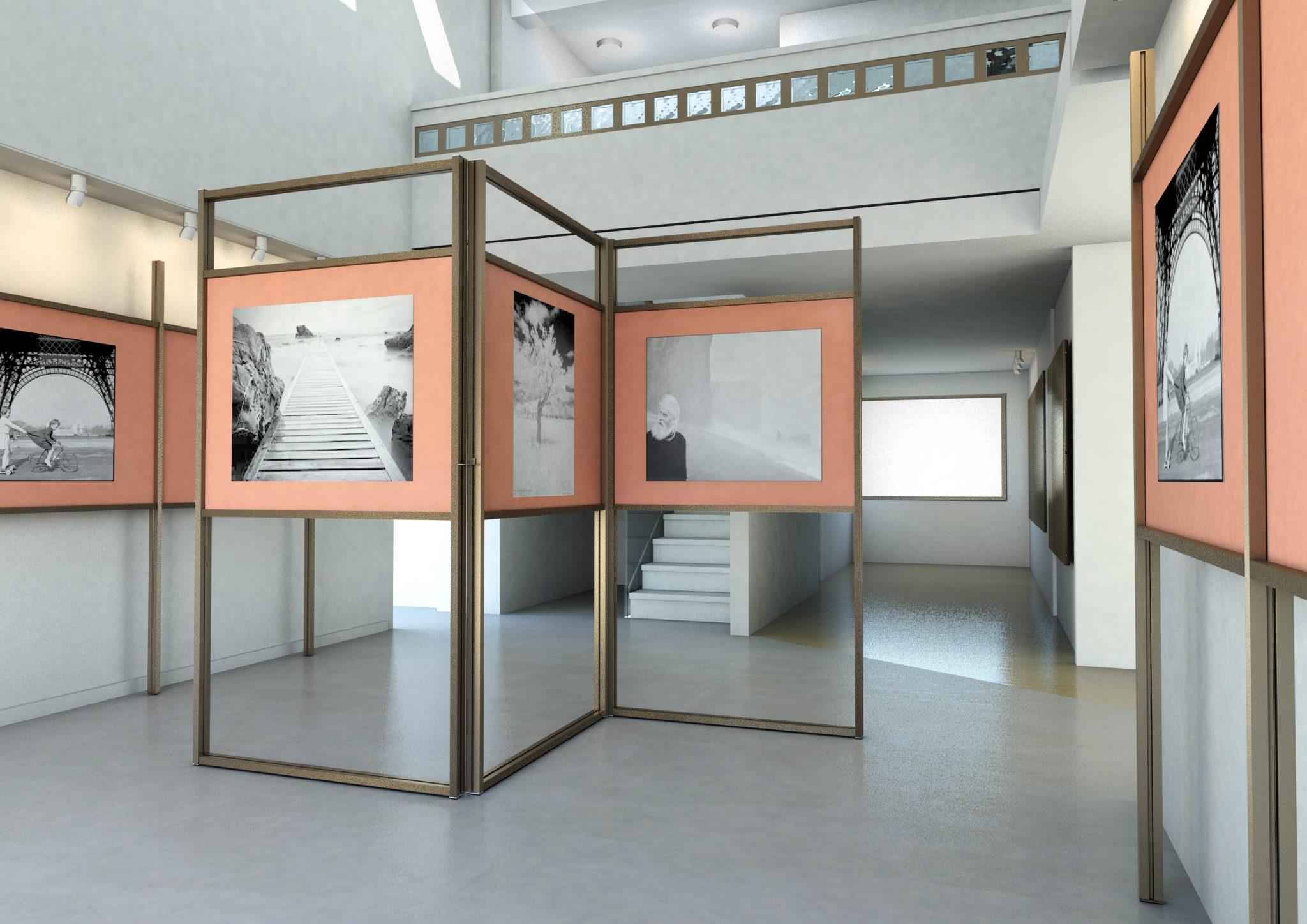 Divisori In Plexiglass Per Esterni pannelli espositivi modulari per allestimento mostra e museo