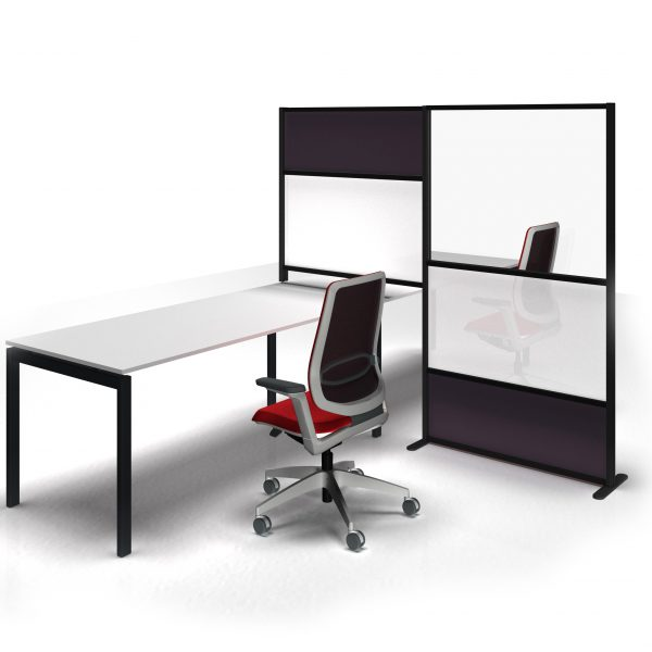 Divisori per scrivanie ufficio con protezione laterale ...